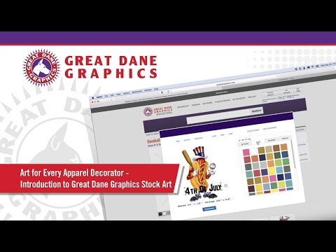 T-Shirt Art for Every Apparel Decorator - Intro to Great Dane Graphics Stock Art