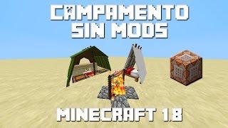 Como Hacer Un Campamento Con Un Comando | Minecraft 1.8