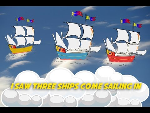 i saw three ships come sailing in christmas carols karaoke with lyrics