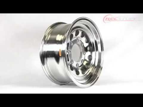 "16X7 8/6.5 Aluminum Heavy Duty Modular Wheel Trailer Rims 16 Inch 8 Lug on 6.5"" - RecStuff.com"