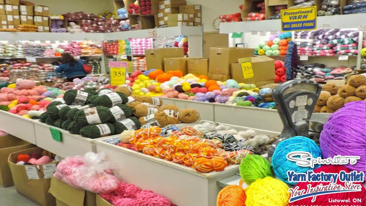 Spinrite Yarn Factory Outlet February 2018 & Spinrite Yarn Factory Outlet February 2018 - YouTube
