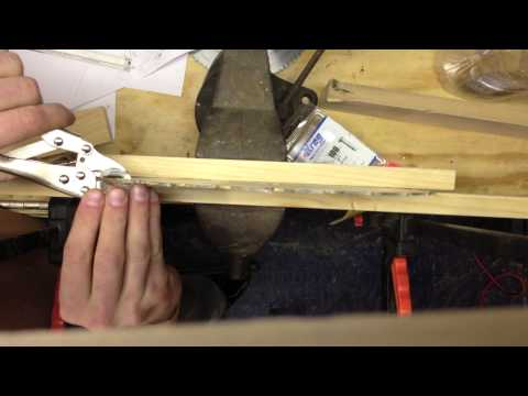 How to make tracks for a wooden sliding door