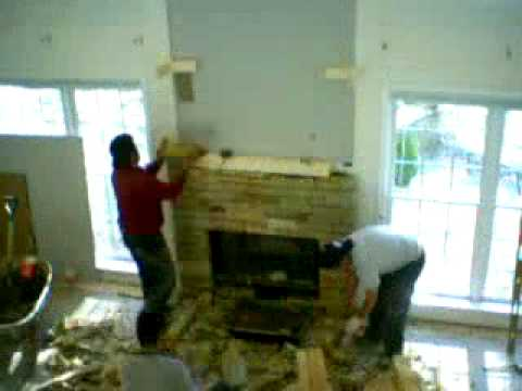 Building An Indoor Fireplace Of Time Lapse Masonry Stone Fireplace Chimney Construction
