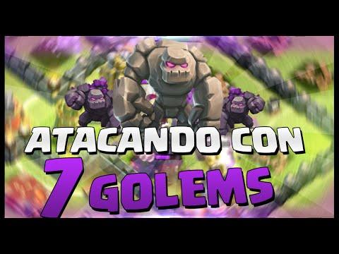 ATAQUE CON 7 GOLEM - BESTIAL - A por todas con Clash of Clans - Español - CoC