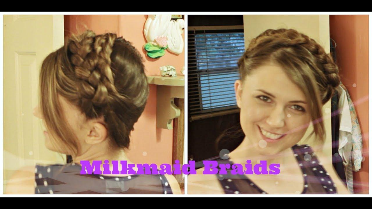 Easy Boho Braided Headband [no Heat], Milkmaid Braids Hair Tutorial For  Medium To Long Hair  Youtube