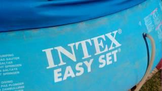 БАССЕЙН  INTEX 4,54 x 1,22 Ремонт и Практические советы. Надувной круг пришел в негодность.