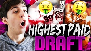 HIGHEST PAID PLAYER DRAFT! MADDEN 16 EXTREME DRAFT CHAMPIONS
