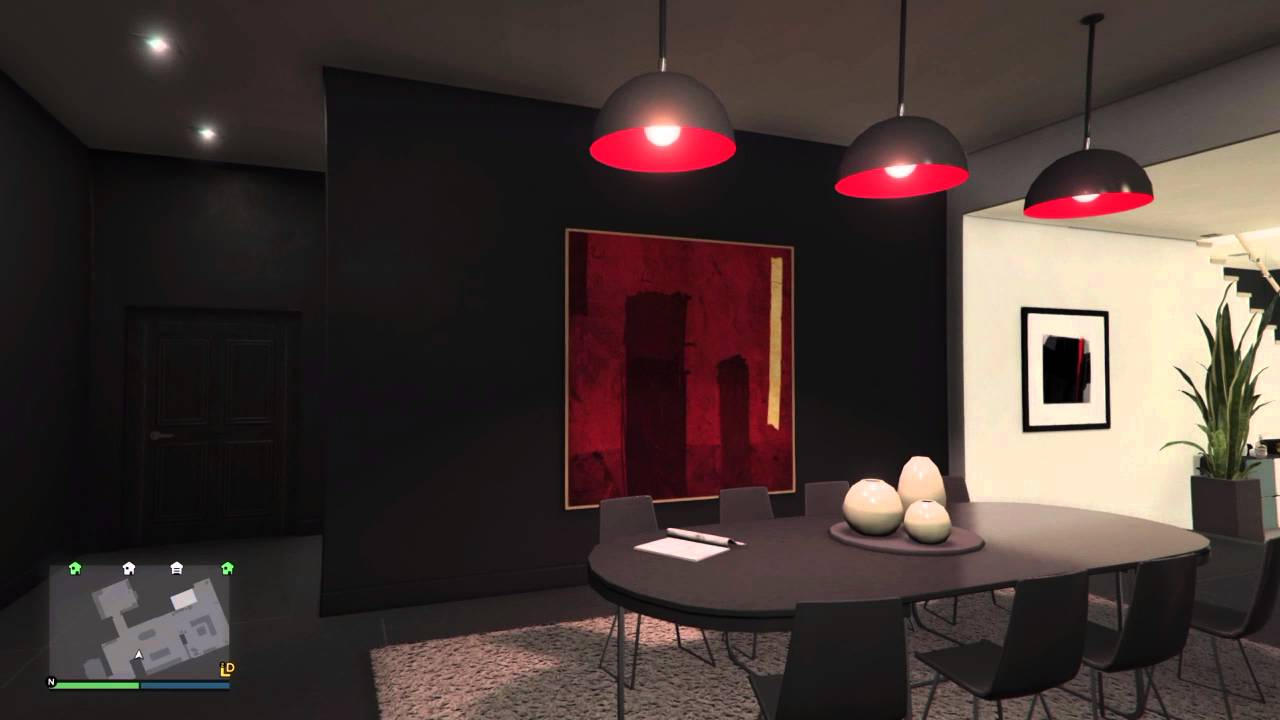 GTA V Online Penthouse Apartment Designs - Moody (2 of 8) - YouTube