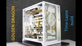 """Lian Li PC-O11 DYNAMIC """"GOLDEN DRAGON"""" TIME LAPSE BUILD"""