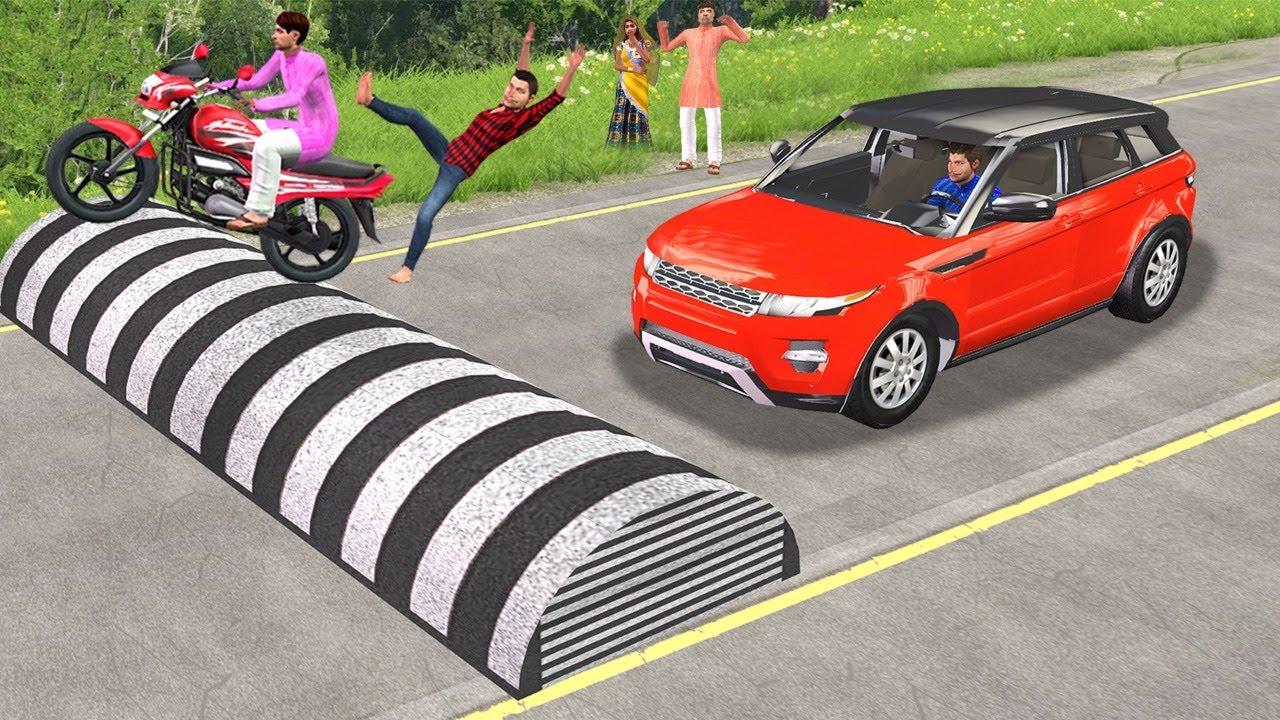 Must Watch Latest Funny Comedy Video 2021 विशाल स्पीड ब्रेकर Giant Speed Breaker Rescue Hindi Comedy