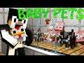 Minecraft | MUTANT BABY PETS MOD Showcase! (PETS MOD, BABY MOBS MOD, MUTANT BABIES MOD)