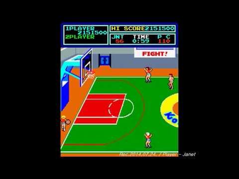 Super Basketball(Konami Classic Arcade Game) - 1CC - Until to defeat W C twice.