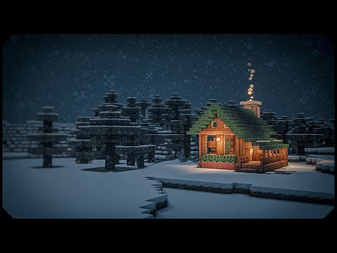 Minecraft: Snowy Log Cabin [Tutorial]