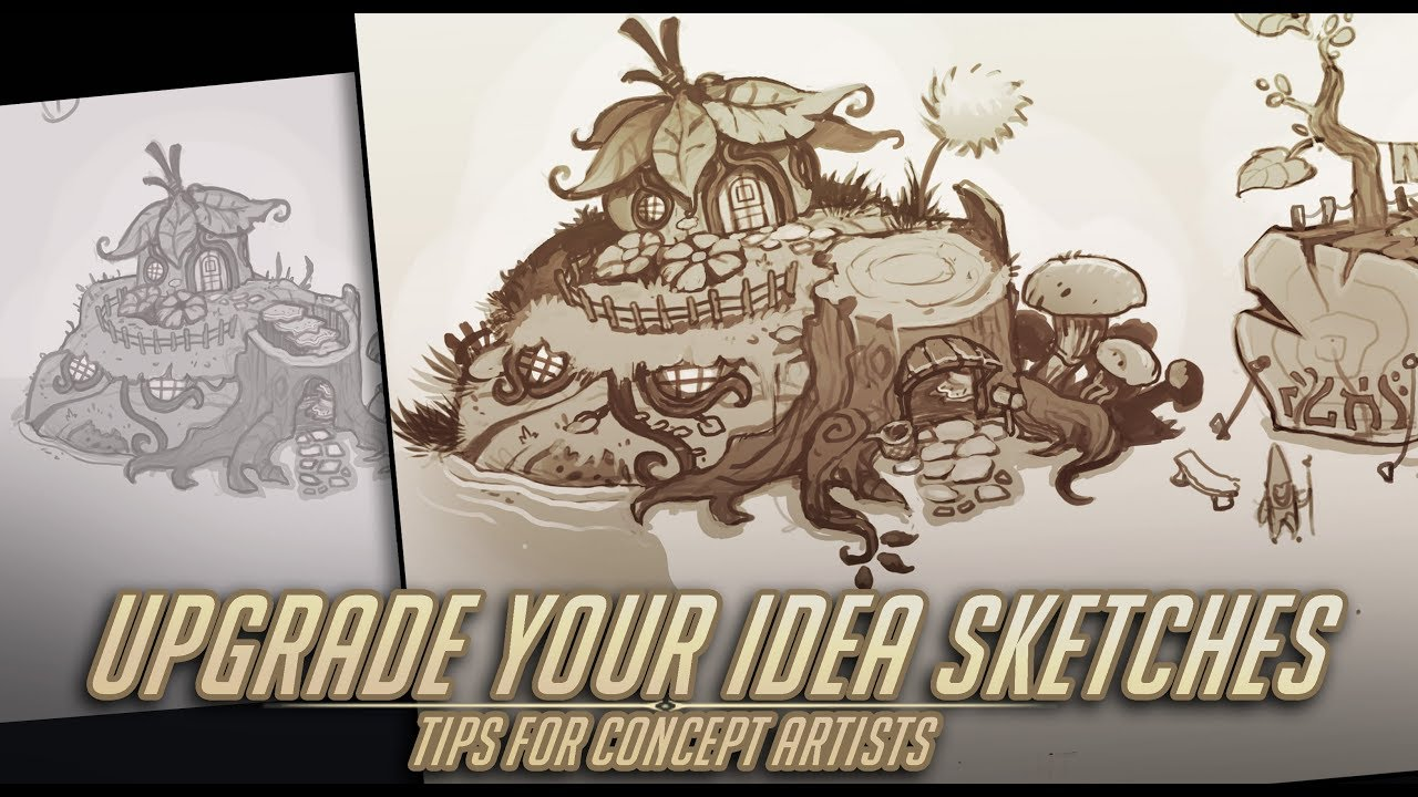 Upgrade Your Design Sketches Environment Concept Artist Daily Process