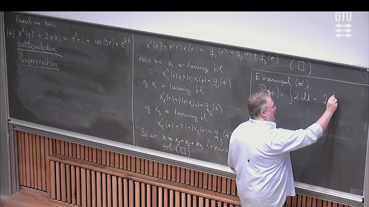 Uge 9 Store Dag (2/2) – Lineære 1.ordens Differentialligninger – DTU Mat 1 E18 (E17) Skema B Michael