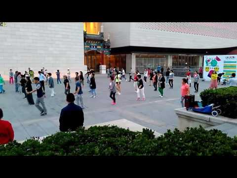 Public performance at Tian Qiao square Beijing