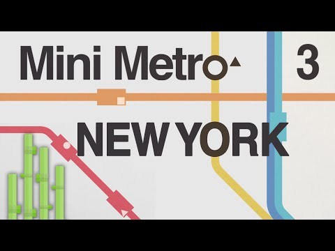 ACROSS THE POND (New York) | Mini Metro Let's Play Episode 3
