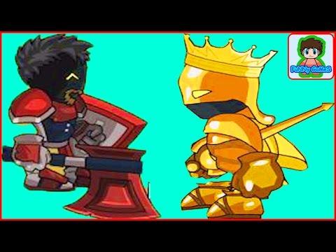sword and souls  мультик игра для детей Про воина Мечи и души От фаника 9. Золотой рыцарь  Босс