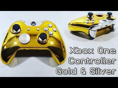 Xbox One Controller Gold & Silver
