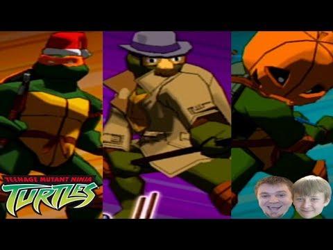 All Costumes Teenage Mutant Ninja Turtles Video Game Gamecube 2003 Youtube