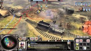 Company Of Heroes 2 : The Western Front Armies 4v4 Multiplayer Gameplay - German Grim Reapers