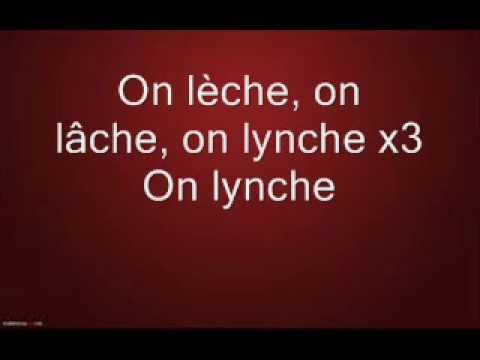Trust On lèche, on lâche, on lynche lyrics