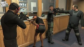 MICHAEL, FRANKLIN and TREVOR ROBS A BANK! (GTA 5 Mods)