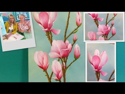Como pintar flores magnolias p ntar al oleo mabel - Fotografias para pintar cuadros ...