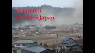 Detik - Detik Tsunami Menghantam Fukushima Japan #PrayForJapan