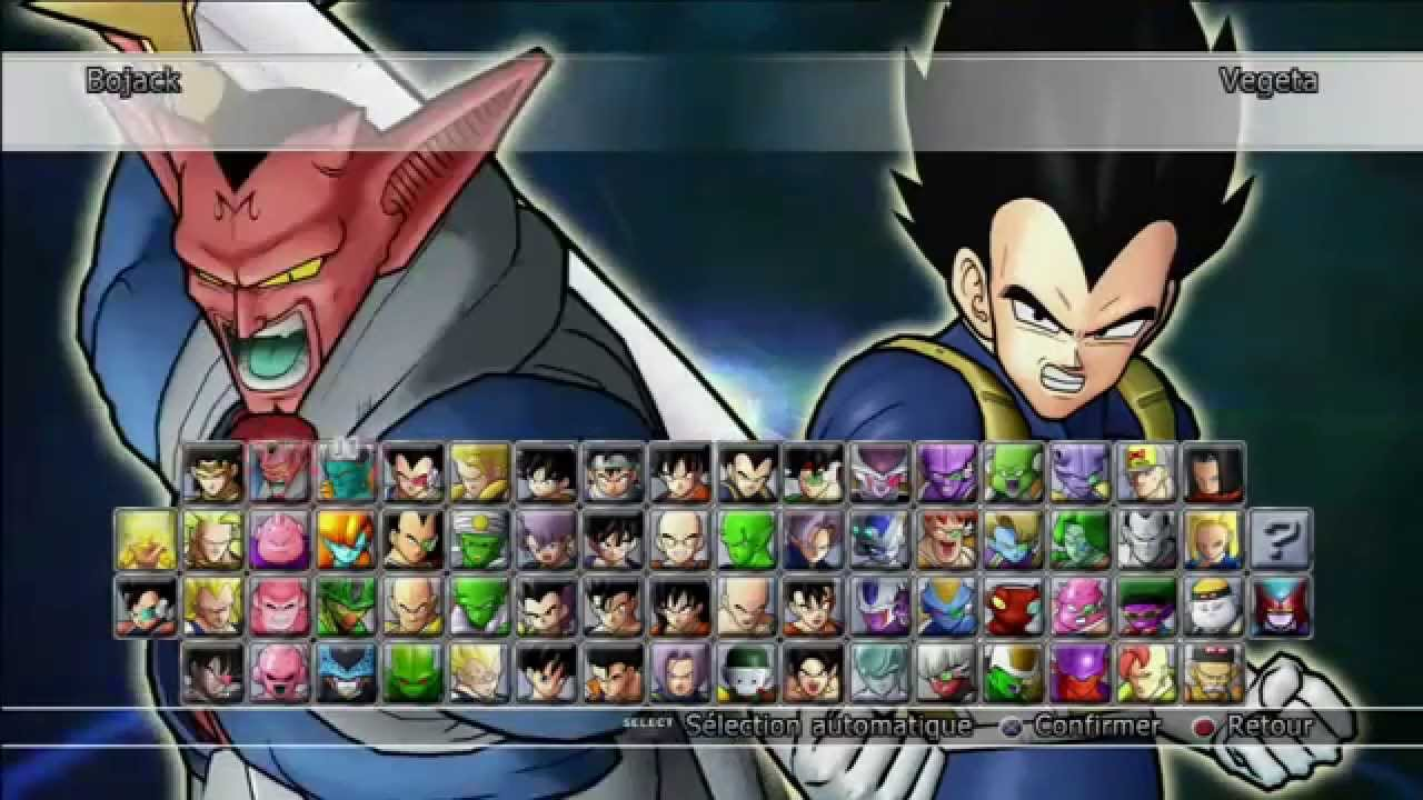 Tous les personnages de dragon ball raging blast 2 youtube - Tout les image de dragon ball z ...