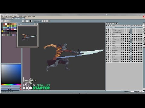 Pixel Art Timelapse: Bounty Hunter Attack Animation