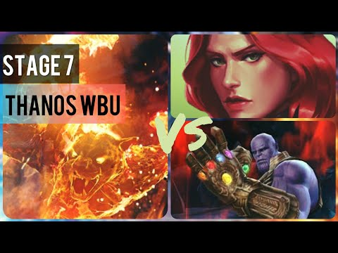 Stage 7 Thanos WBU Feat. T1 Ghost Panther & Jean Grey | World Boss Ultimate - Marvel Future Fight