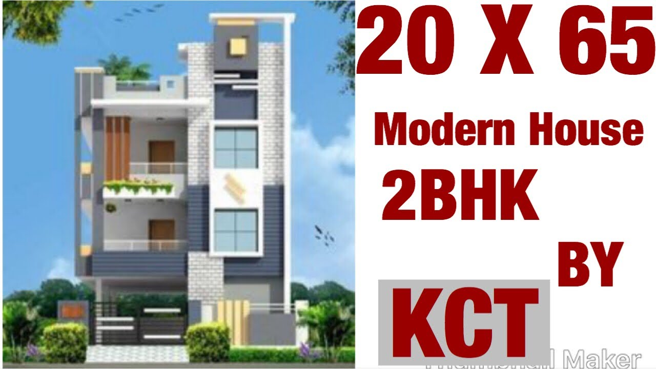 20 X 65 Sq Ft House Design, House Map, Plan , 1BHK, With Car Parking 150 Gaj