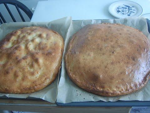 Пирог с сёмгой и рисом, с картошкой и мясом