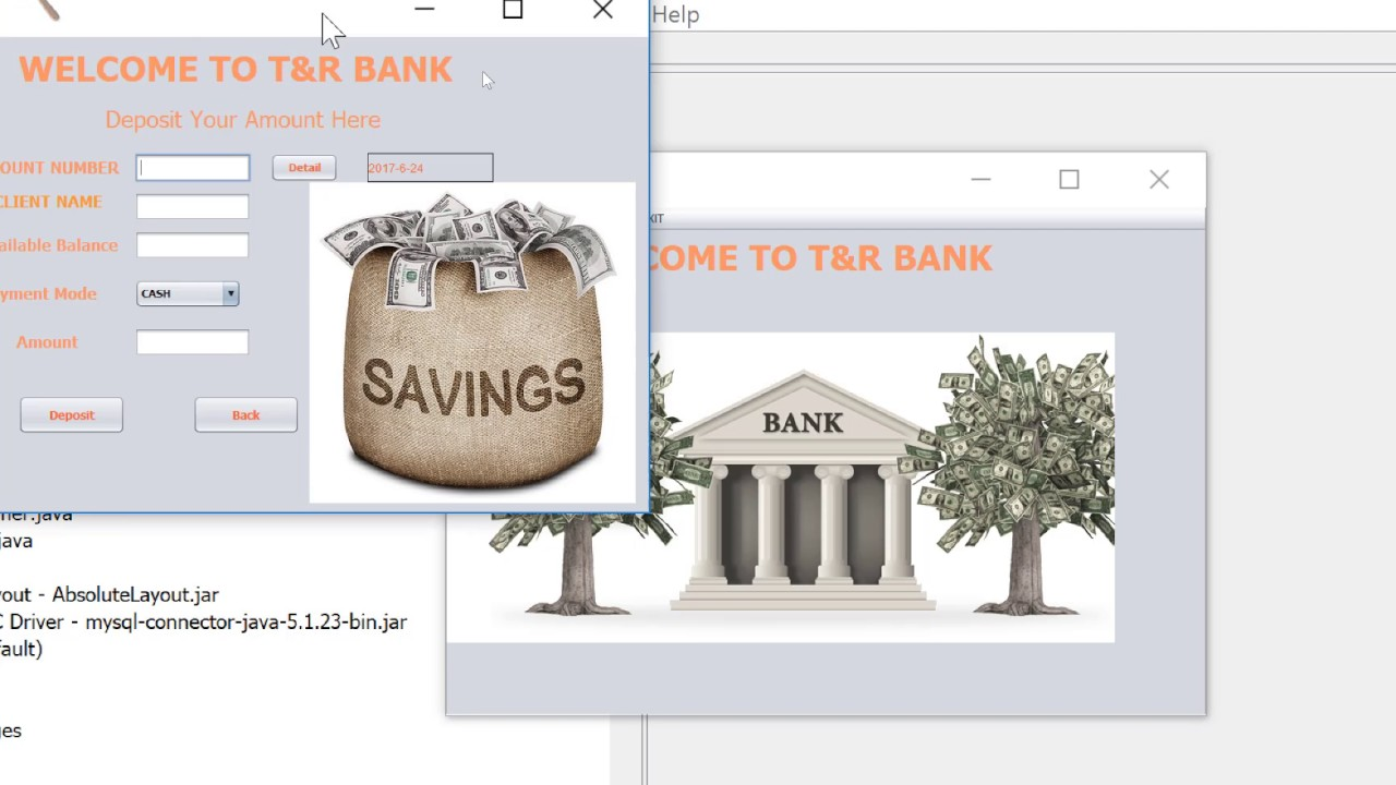 Banking System Project in JAVA