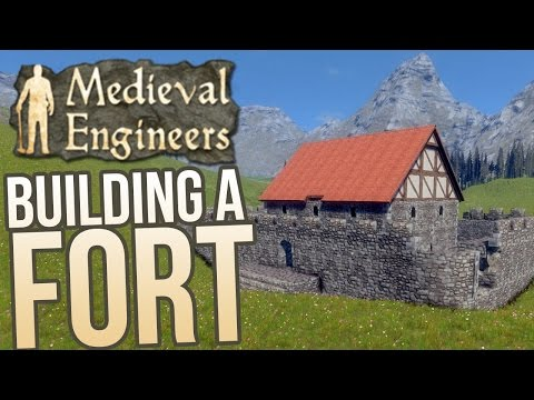 Medieval Engineers - Building Basics - A Simple Castle - Medieval Engineers Gameplay Highlights
