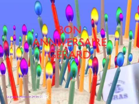 Bon Anniversaire Gerard Youtube