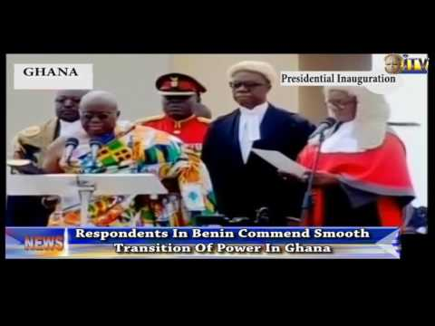 Respondents In Benin Commend Smooth Transition Of Power In Ghana