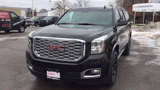 2018 GMC Yukon XL 4WD Denali Dual Screen Blu Ray Handsfree Liftgate Black Oshawa ON Stock #180435