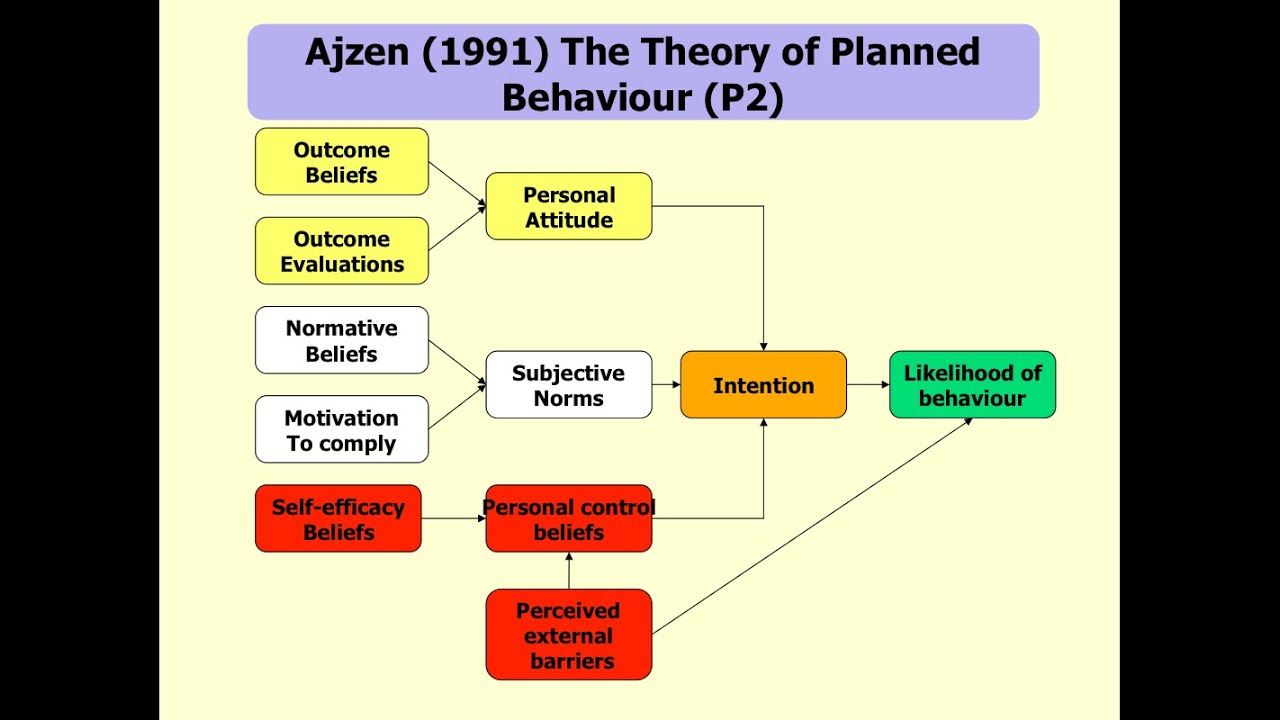 theory of planned behvior The theory of planned behaviour is built out of a number of constructs the first construct is the attitude towards the act or behaviour that is, an individ.