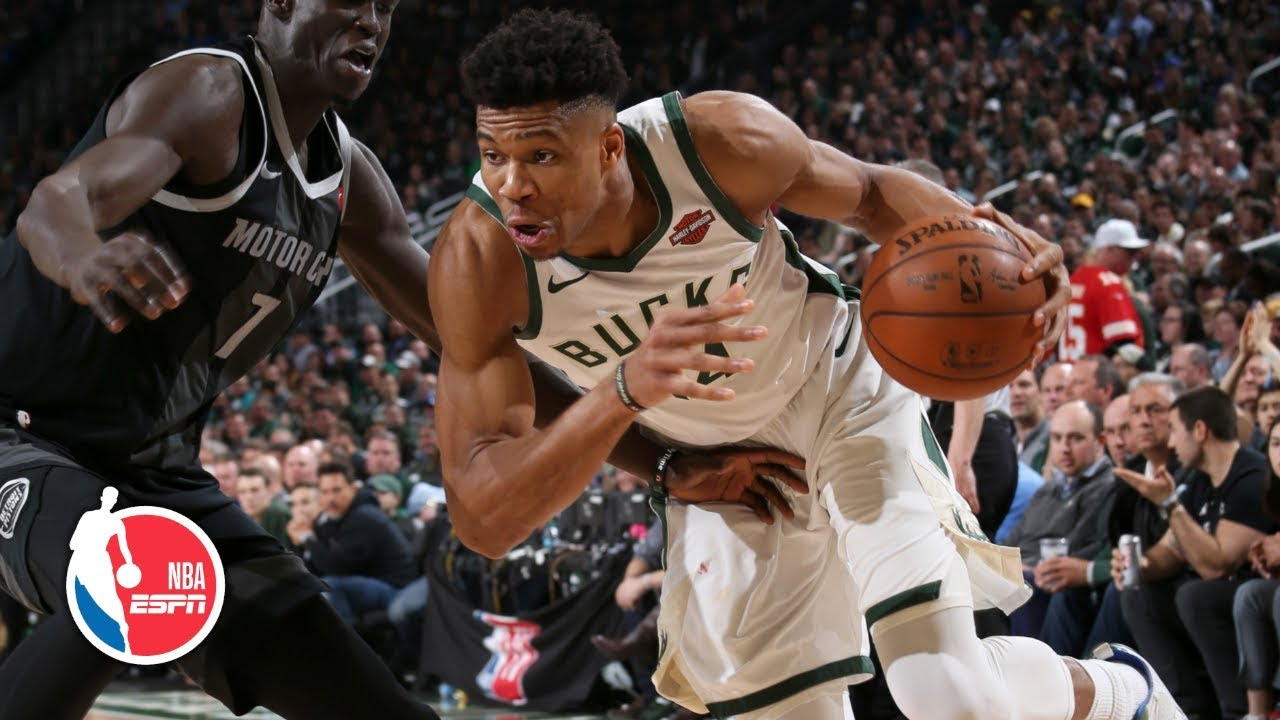 Giannis Antetokounmpo double-double leads Bucks to Game 2 win vs. Pistons | NBA Highlights