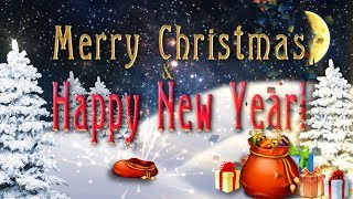 2019🎄Merry Christmas and Happy New Year 🎄 4K Animation Greeting card