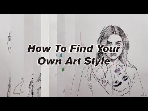 "How To Find Your ""OWN ART STYLE"" - Drawing tutorial for beginners thumbnail"