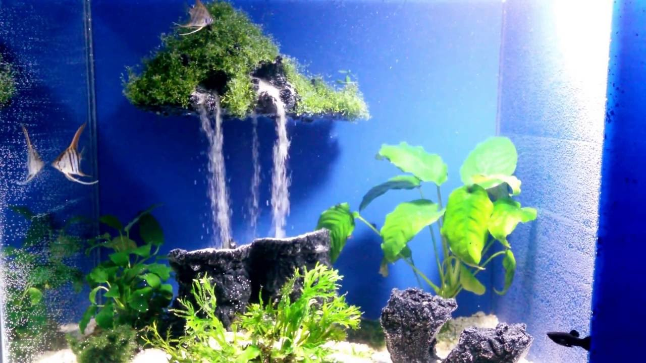 Aquarium sand waterfall 17 mysterious island youtube for Waterfall fish tank