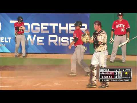 2016 Sun Belt Conference Baseball Championship: Arkansas State vs Texas State Game 10 Highlights
