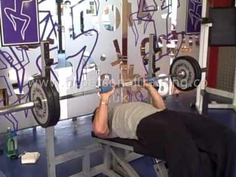 10 Degree Decline Acromion Grip Fat Gripz Bench Press
