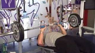 10 Degree Decline Acromion Grip Fat Gripz Bench Press
