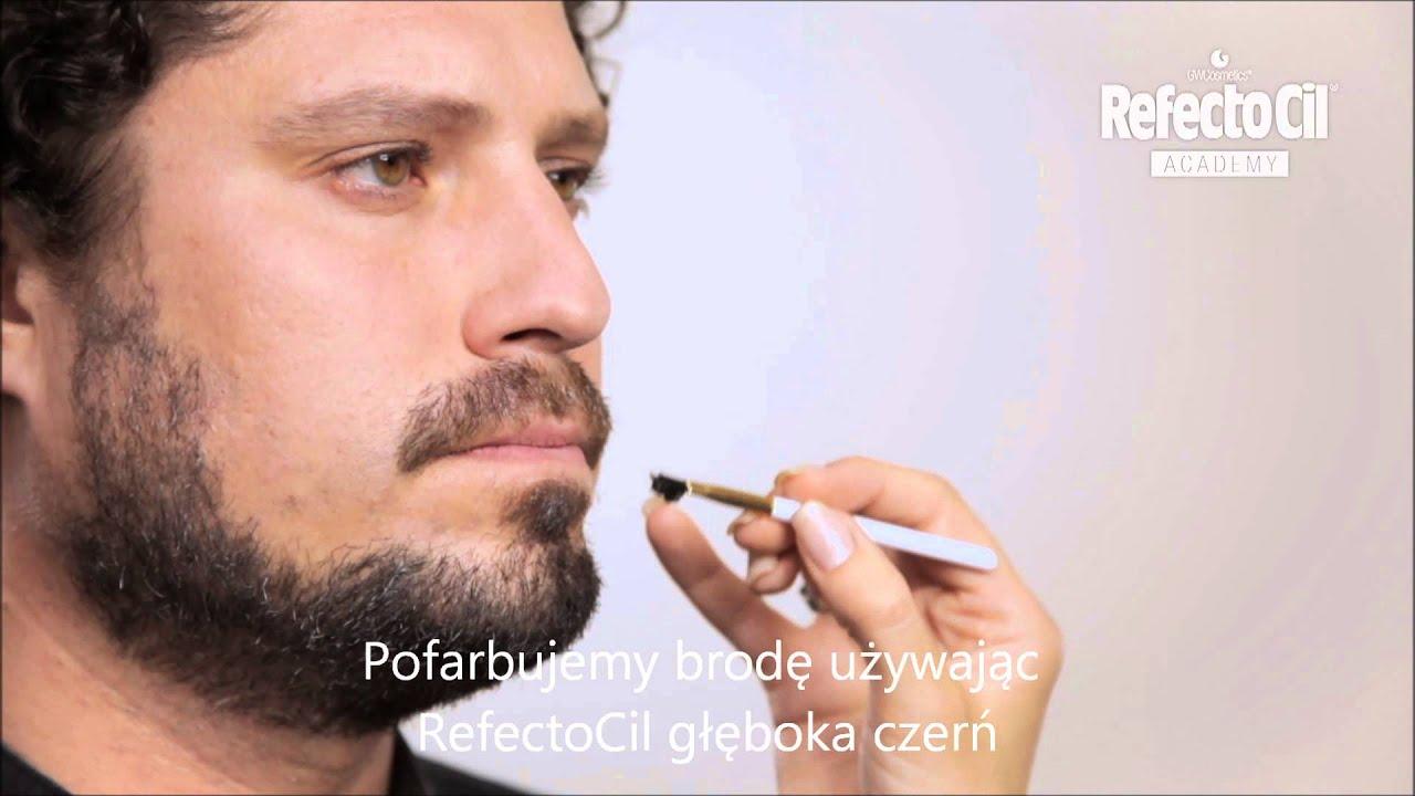Refectocil Koloryzacja Brody Glęboką Czernią Youtube