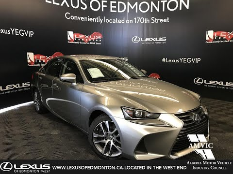 Silver 2019 Lexus IS 300 Standard Package Review - West Edmonton, Alberta, Canada