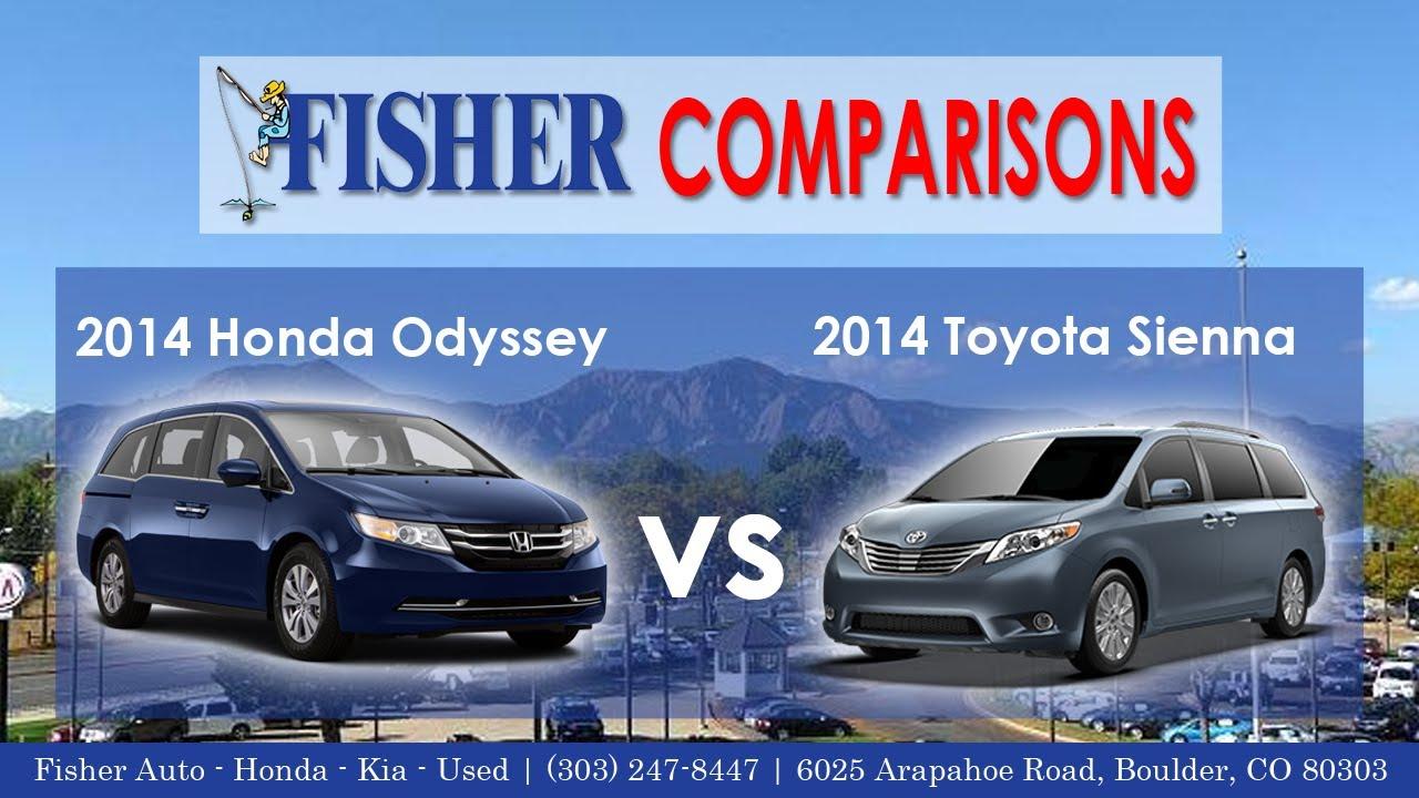 2014 honda odyssey vs 2014 toyota sienna vehicle for Should i buy a toyota sienna or honda odyssey